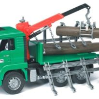 Bruder 2769 MAN Timber Truck with Loading Crane and 3 Trunks