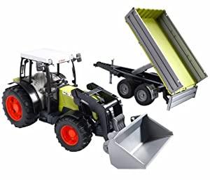 Bruder  2112 - Claas Nectis 267F + front loader + trailer