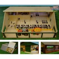 Wooden Cow Shed With Milking Parlour