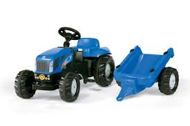 ROLLY KID NEW HOLLAND TRACTOR WITH LOADER AND TRAILER AGE 2+