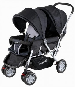 Safety 1st Duodeal Tandem Pushchair, Black