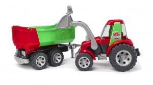 tractor with front loader and rear tipper